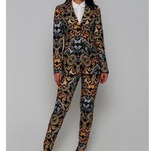 Baroque seamless pattern luxury design pant suit